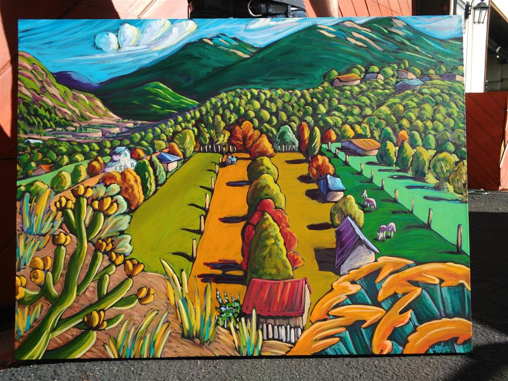 """A valley in Taos New Mexico"" original fine art by Robyn Wellman"