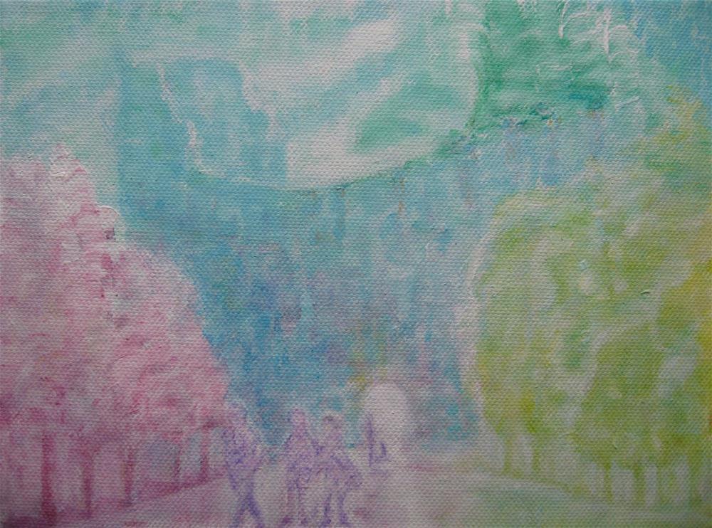 """Visitors"" original fine art by Alina Frent"