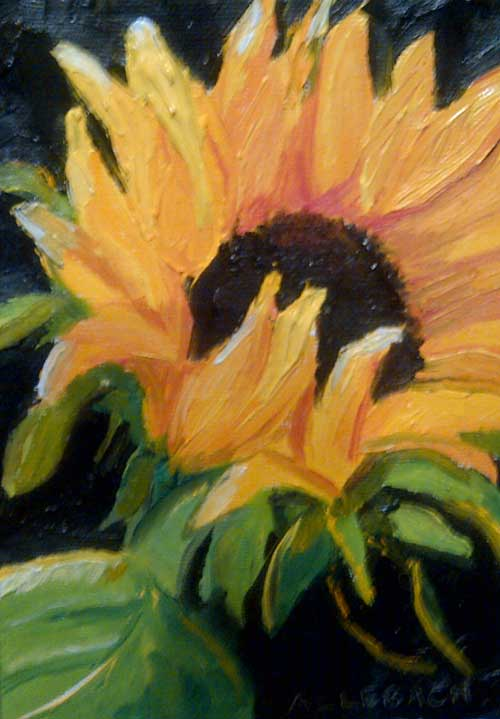 """sunflower 2"" original fine art by Jo Allebach"