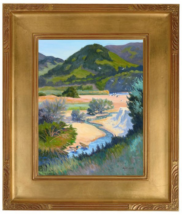 """Rest Stop at the Carmel River"" original fine art by Rhett Regina Owings"