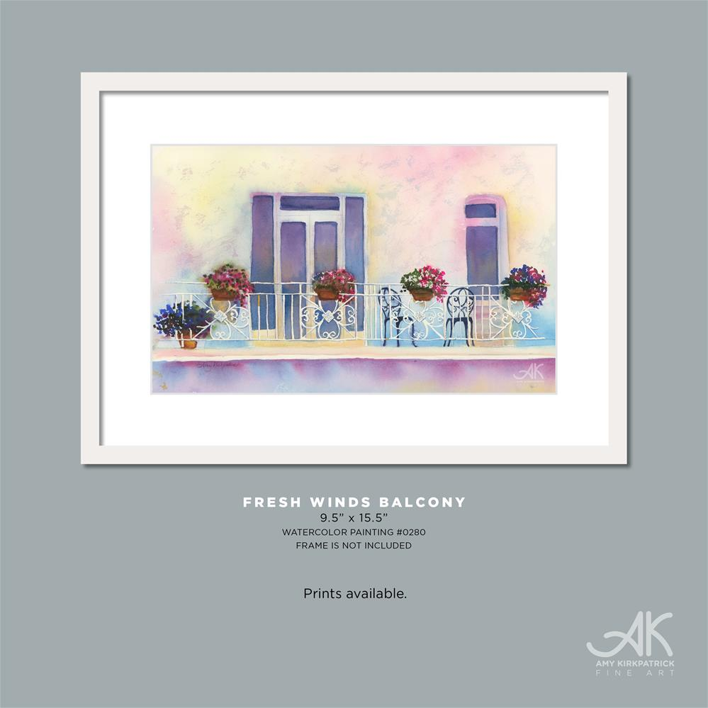 """FRESH WINDS BALCONY #0280"" original fine art by Amy Kirkpatrick"