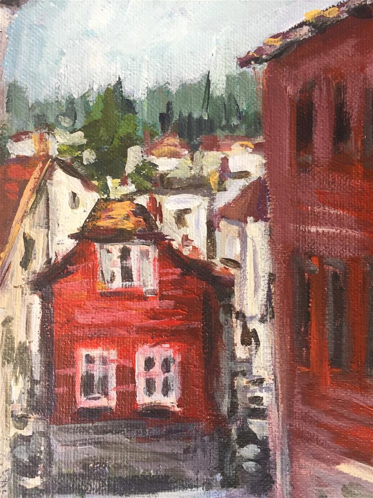 """""""Bergen Street"""" original fine art by Alina Vidulescu"""