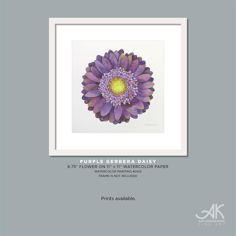 """PURPLE GERBERA DAISY #513"" original fine art by Amy Kirkpatrick"