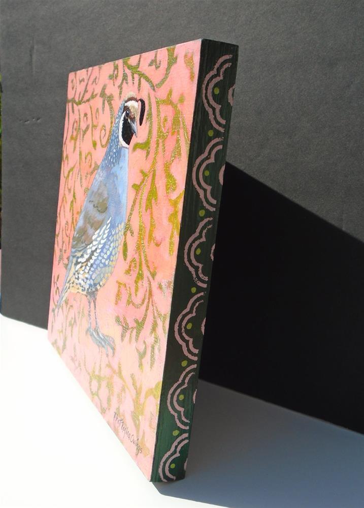 """California Quail"" original fine art by Rhett Regina Owings"