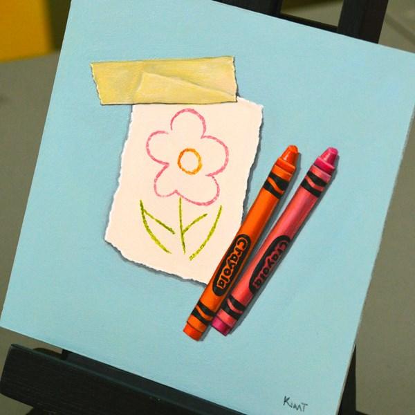 """Flower"" original fine art by Kim Testone"