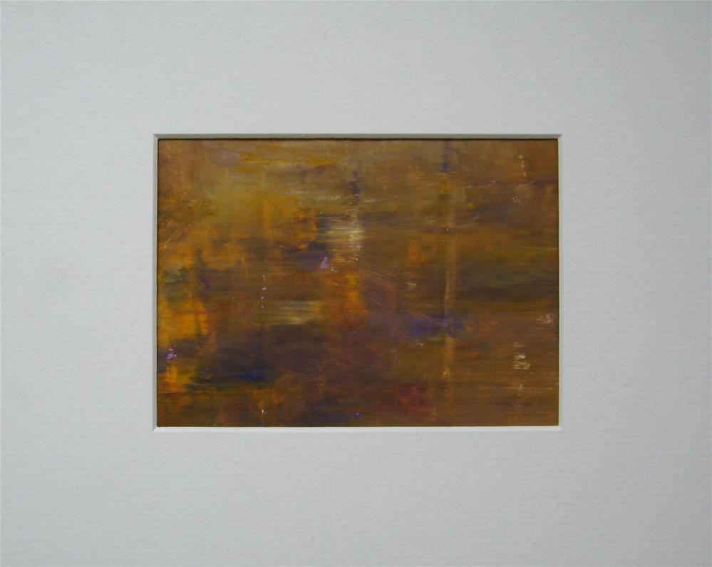 """Yellow Purple Reflection"" original fine art by Alina Frent"