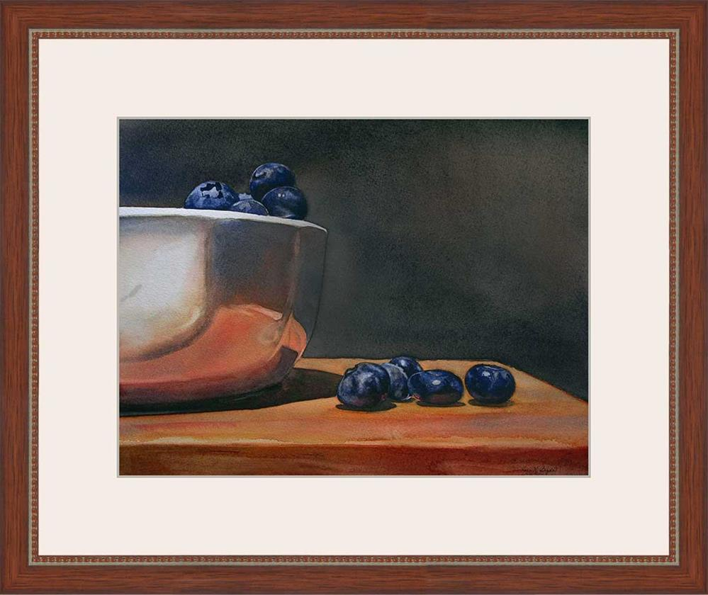 """Blueberries Overboard"" original fine art by Kara K. Bigda"