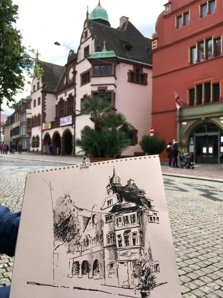 """3554 Old Townhall"" original fine art by Dietmar Stiller"