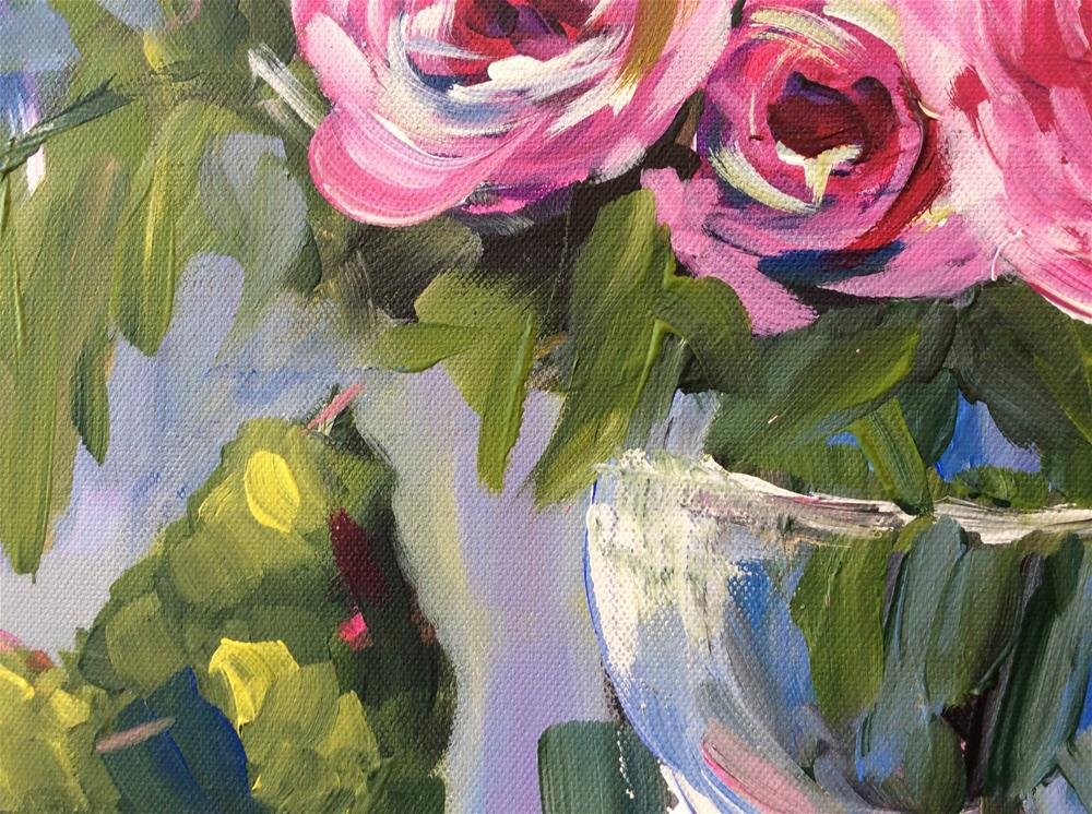"""""""Roses and Pears"""" original fine art by Molly Rohrscheib Hathaway"""