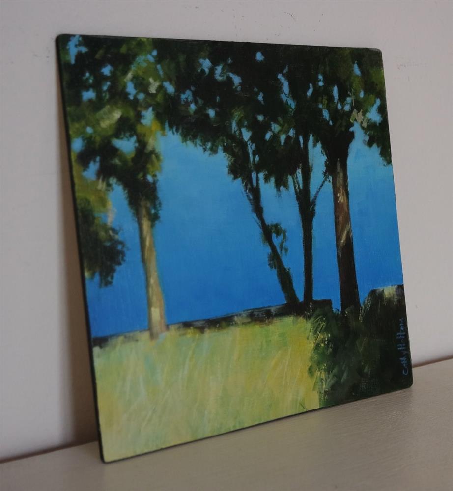 """Into the Blue"" original fine art by Cathy Holtom"