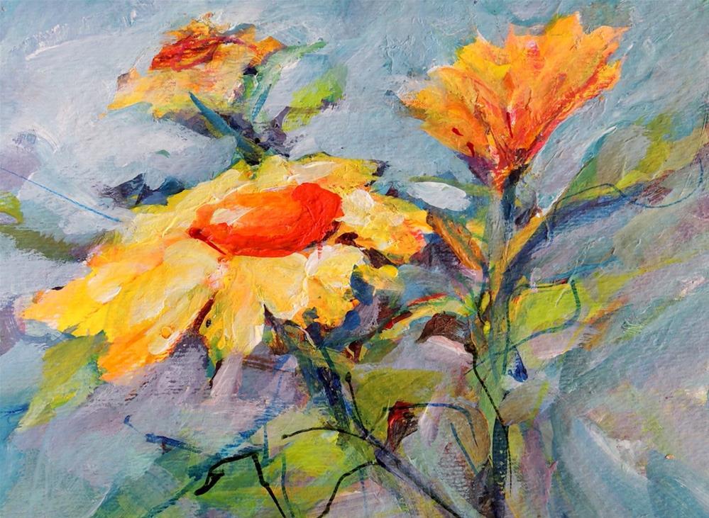 """Daisies Three"" original fine art by Mary Schiros"
