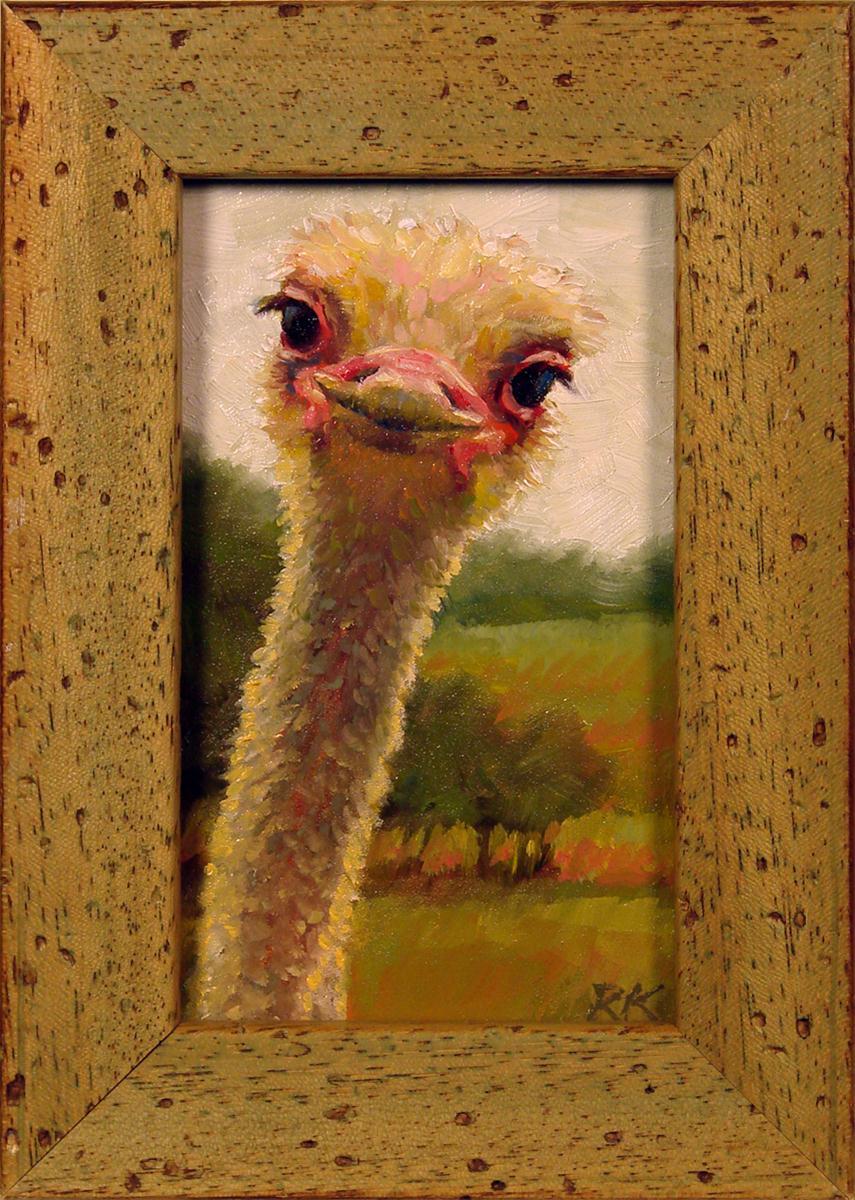 """""""Curious Bird"""" original fine art by Rita Kirkman"""