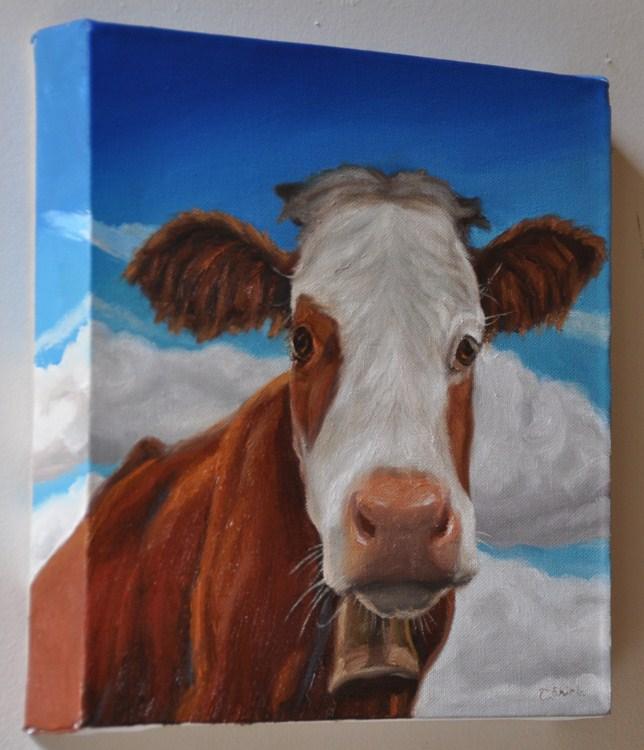"""Belle 10 x 10 oil on 1.5 profile canvas"" original fine art by Tahirih Goffic"