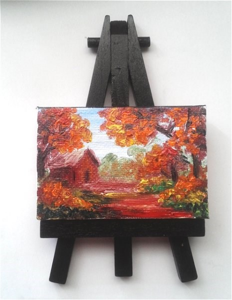 """""""House in the Woods"""" original fine art by Camille Morgan"""