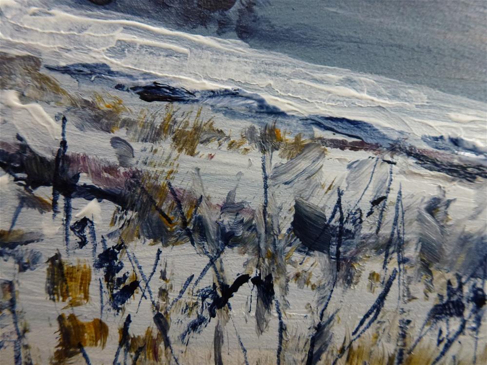 """""""By the Bay in Winter"""" original fine art by Judith Elder"""