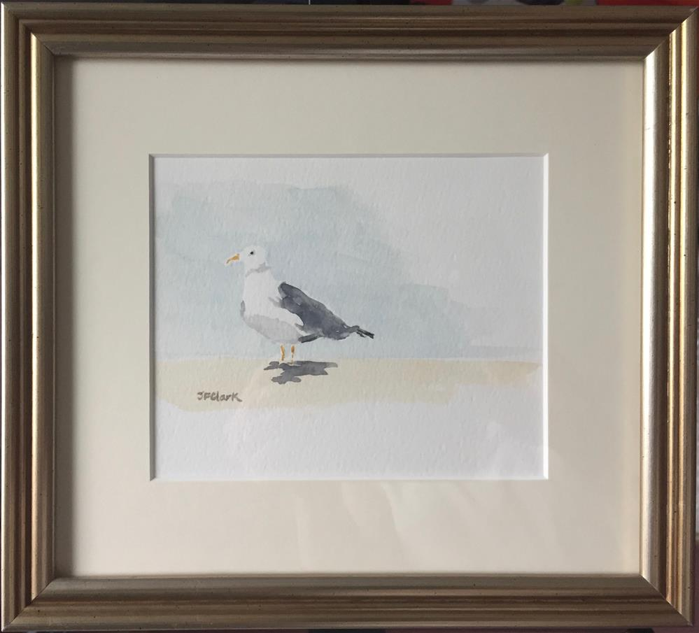 """Little Seagull, framed"" original fine art by Judith Freeman Clark"