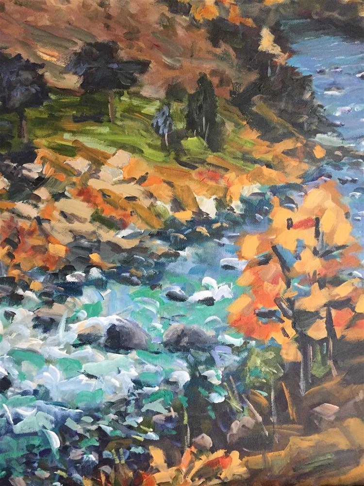 """Yellowstone River"" original fine art by Alina Vidulescu"