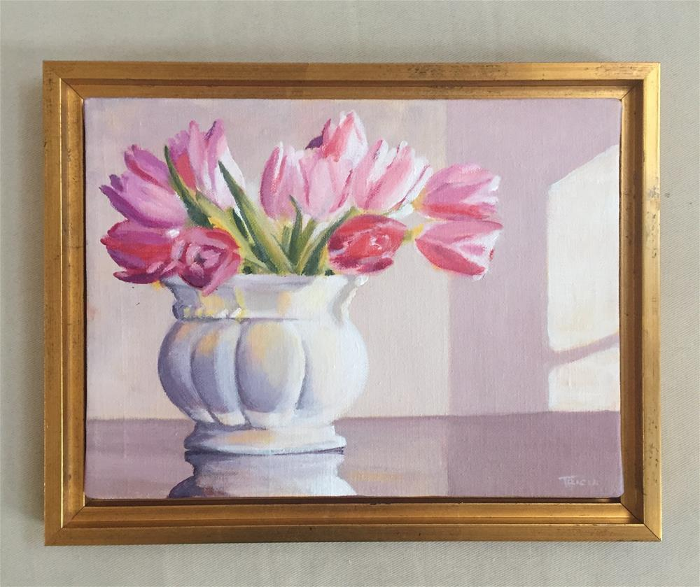 """""""Afternoon Tulips, Framed"""" original fine art by Tricia Granzier"""