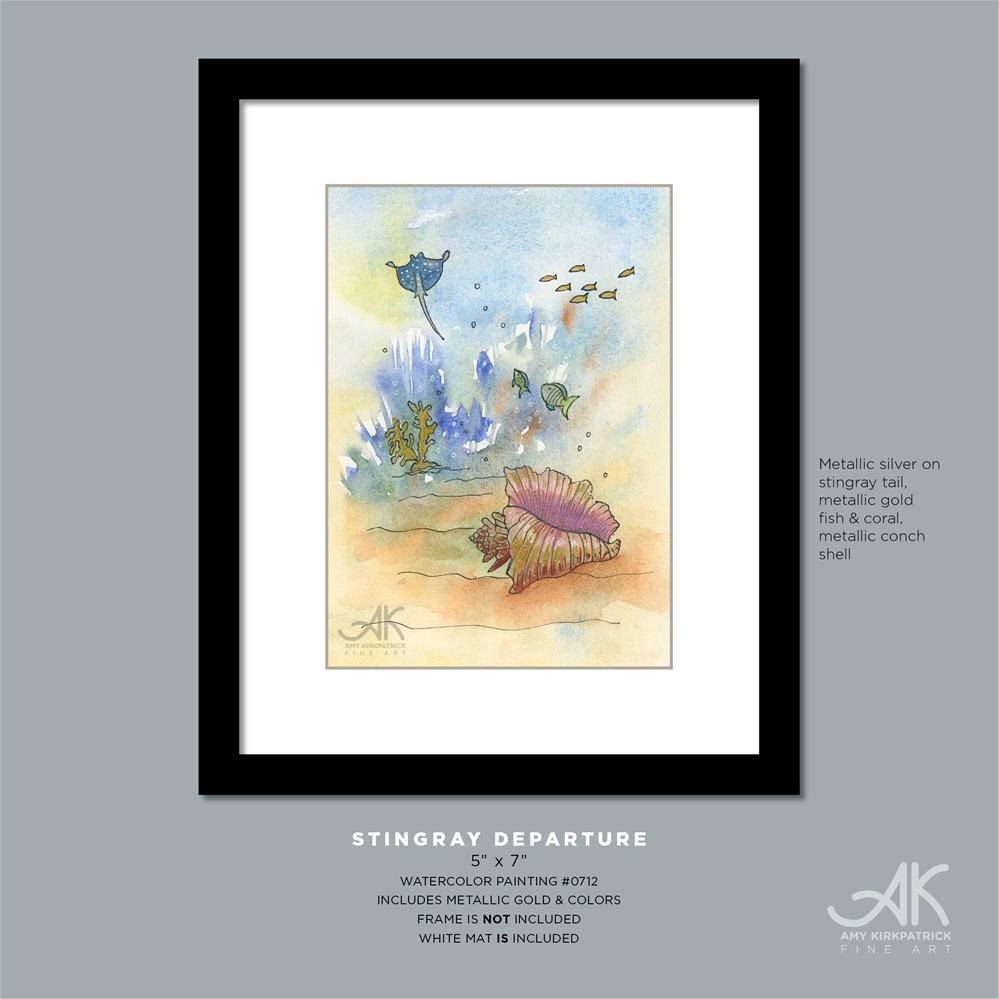 """STINGRAY DEPARTURE #0712"" original fine art by Amy Kirkpatrick"