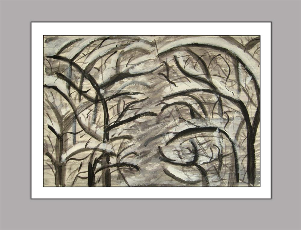 """""""Snowy Branches"""" original fine art by Alina Frent"""