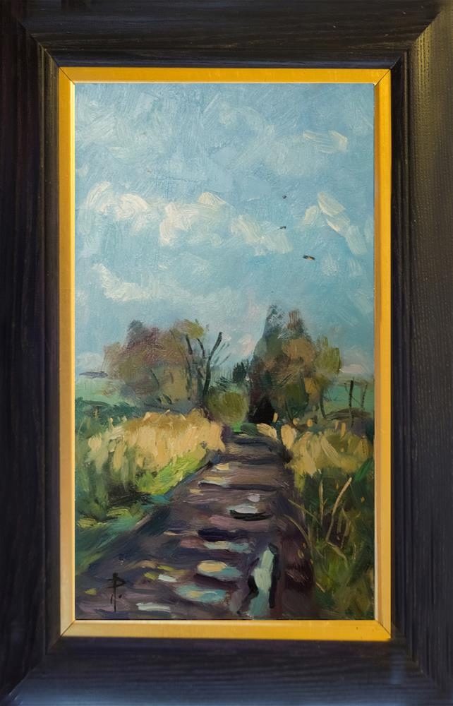 """""""Puddles on Pathway"""" original fine art by Andre Pallat"""