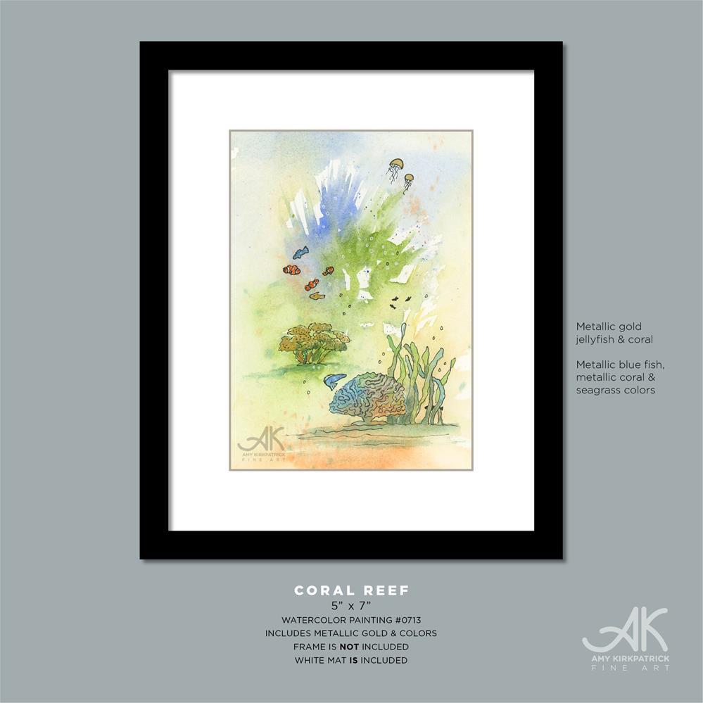 """CORAL REEF #0713"" original fine art by Amy Kirkpatrick"