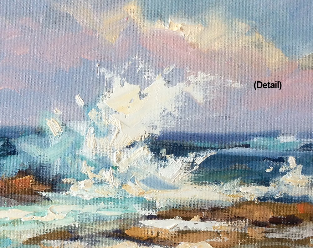 """COASTAL SEASCAPE & SURF"" original fine art by Tom Brown"
