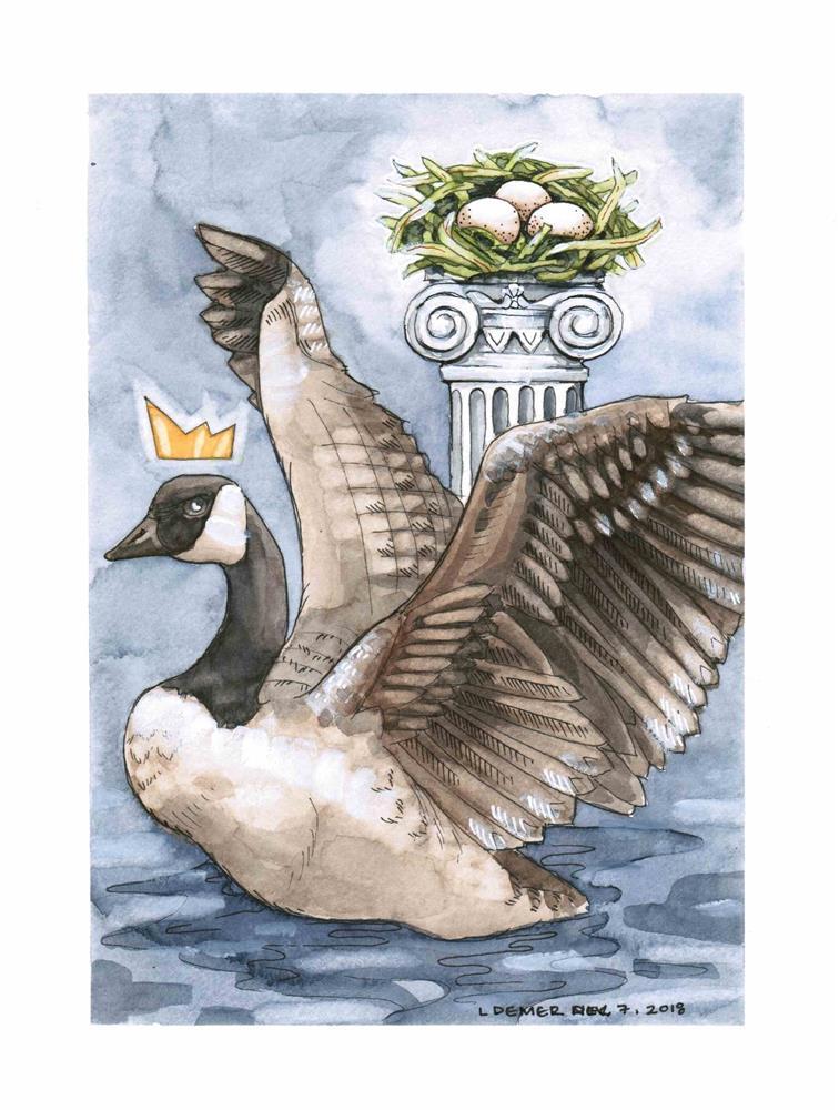 """""""Golden Goose"""" original fine art by Liz Demer"""