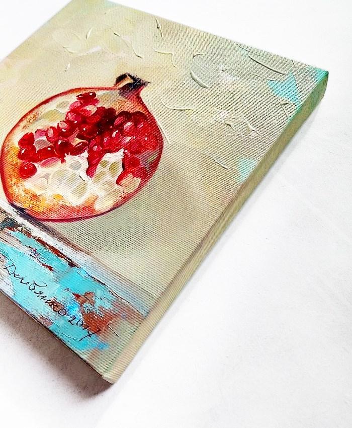 """Pomegranate"" original fine art by Natali Derevyanko"