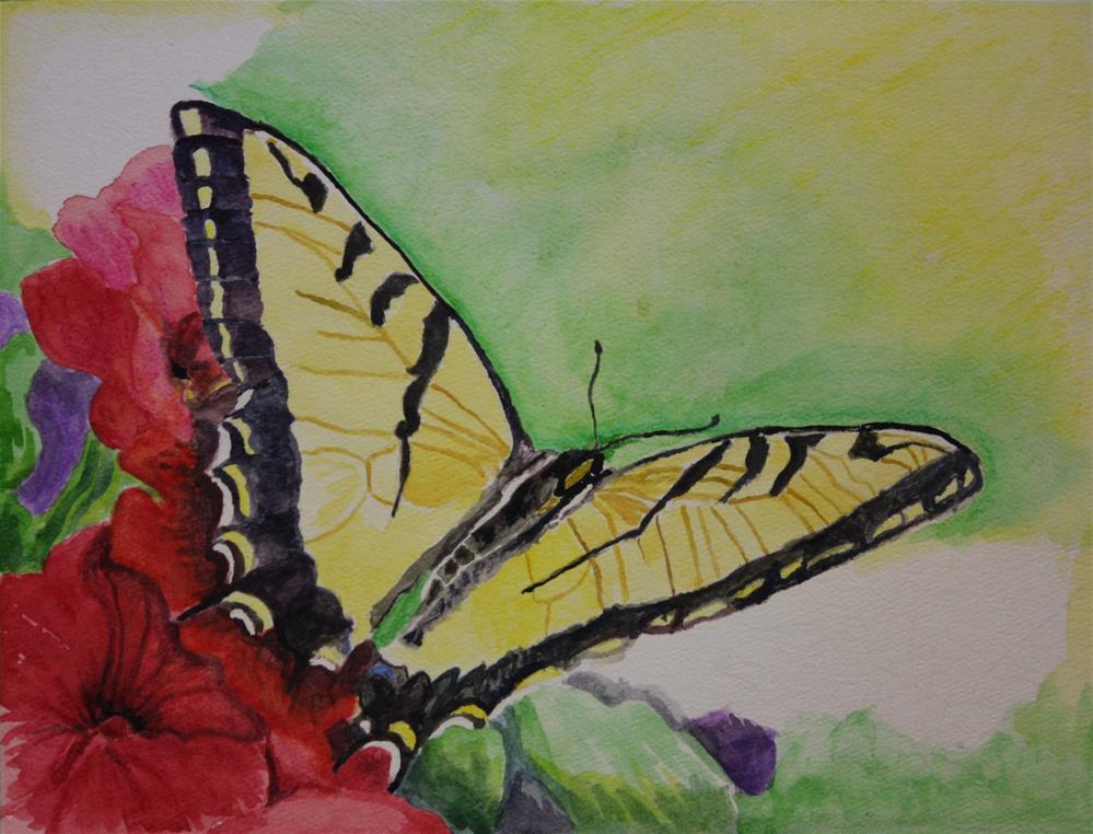 """""""Swallowtail Butterfly"""" original fine art by Terri-Anne Barge"""