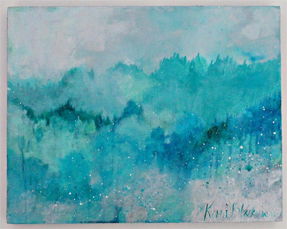 """Trees Like a Sea "" original fine art by Kerri Blackman"