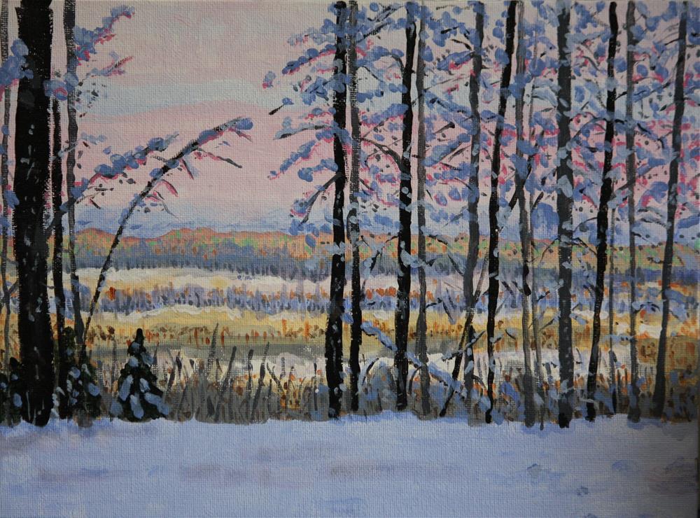 """Looking Across at the Ridge"" original fine art by Terri-Anne Barge"