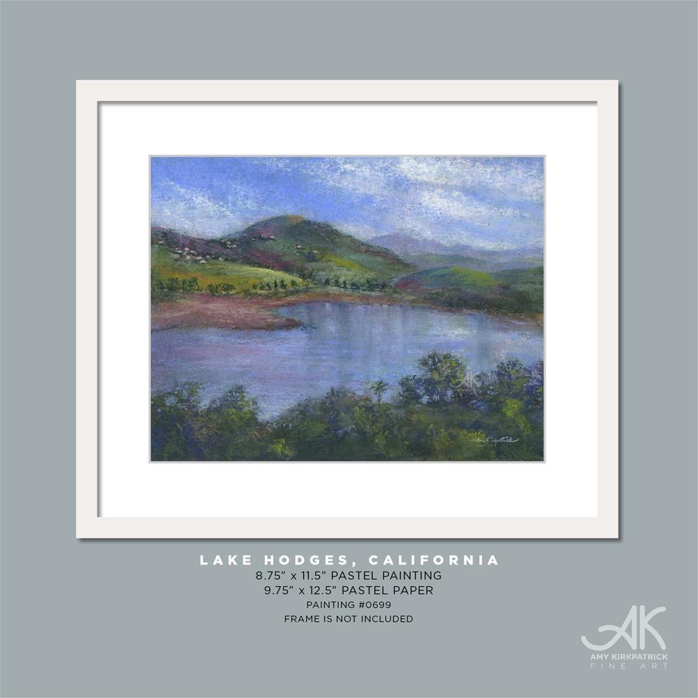 """LAKE HODGES, CA #0699"" original fine art by Amy Kirkpatrick"