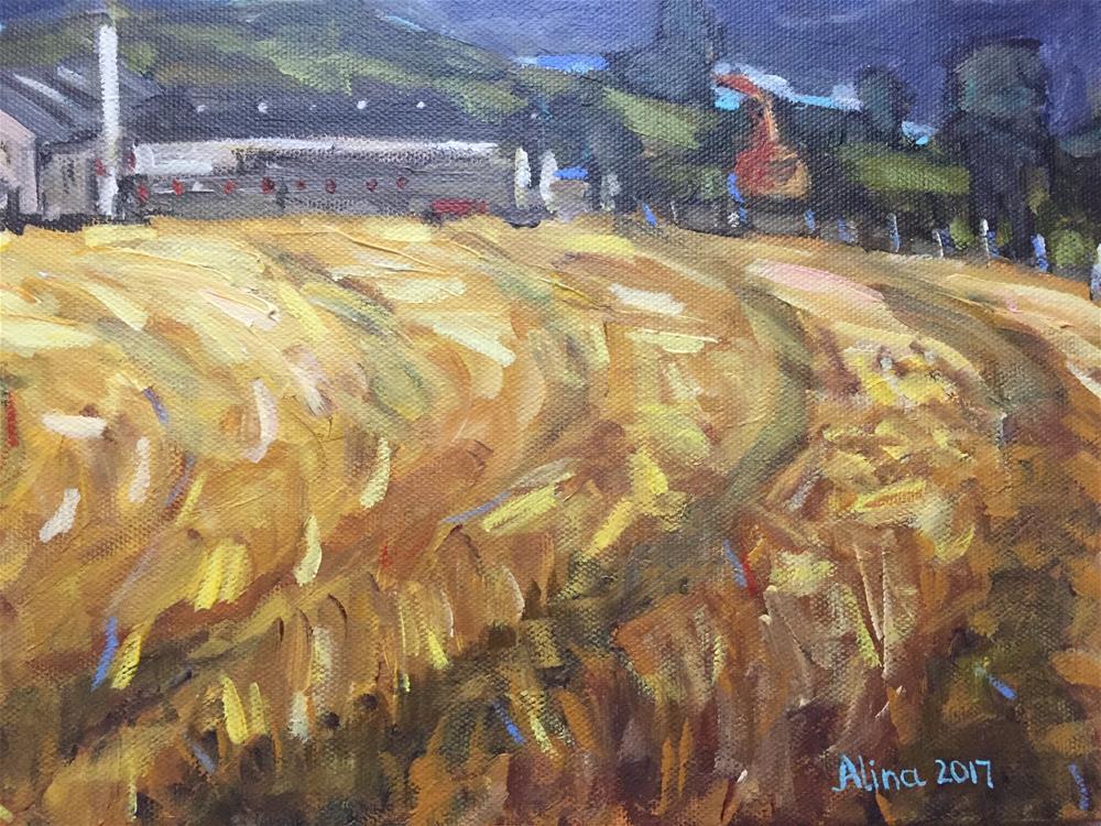 """Glenfarclas Distillery"" original fine art by Alina Vidulescu"