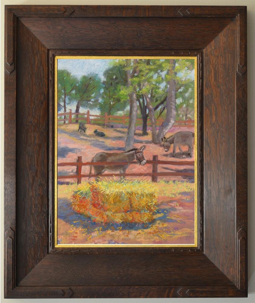 """""""Eyeing the Hay"""" original fine art by Rhett Regina Owings"""