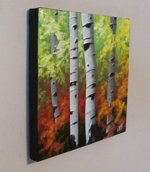 """""""Birch Quartet"""" original fine art by ~ces~ Christine E. S. Code"""