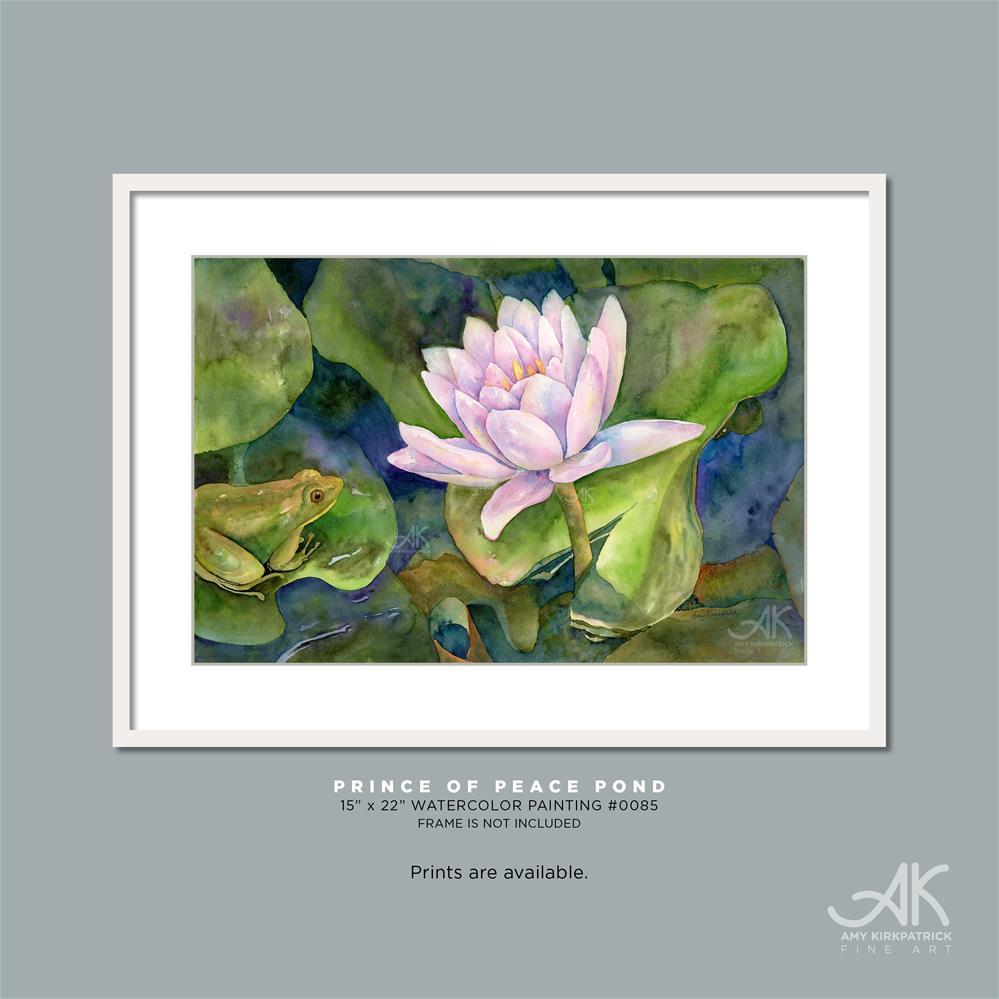 """PRINCE OF PEACE POND #0085"" original fine art by Amy Kirkpatrick"