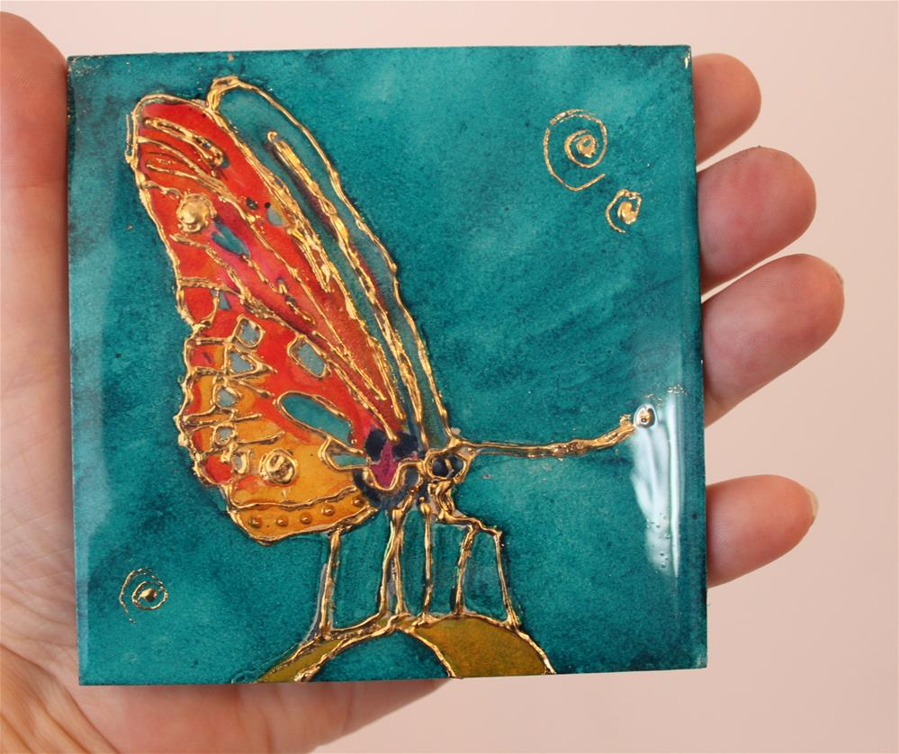 """Nature's Jewel Miniature -Butterfly 2"" original fine art by Christiane Kingsley"