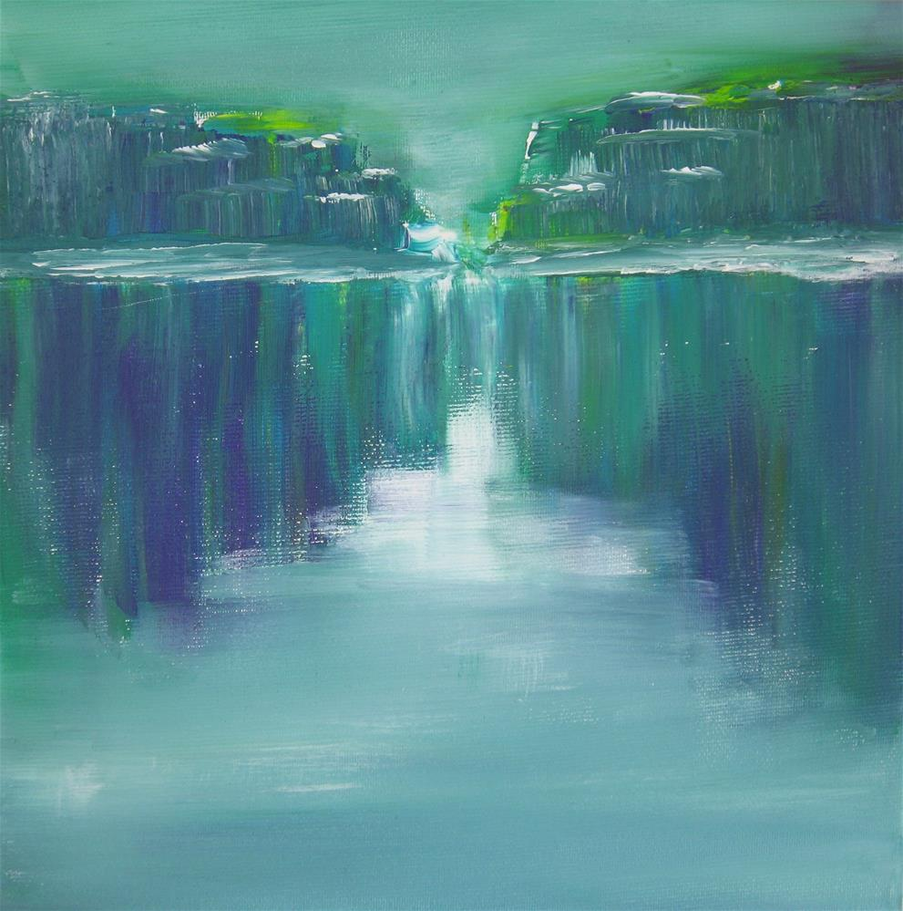 """Green Rocks"" original fine art by Alina Frent"