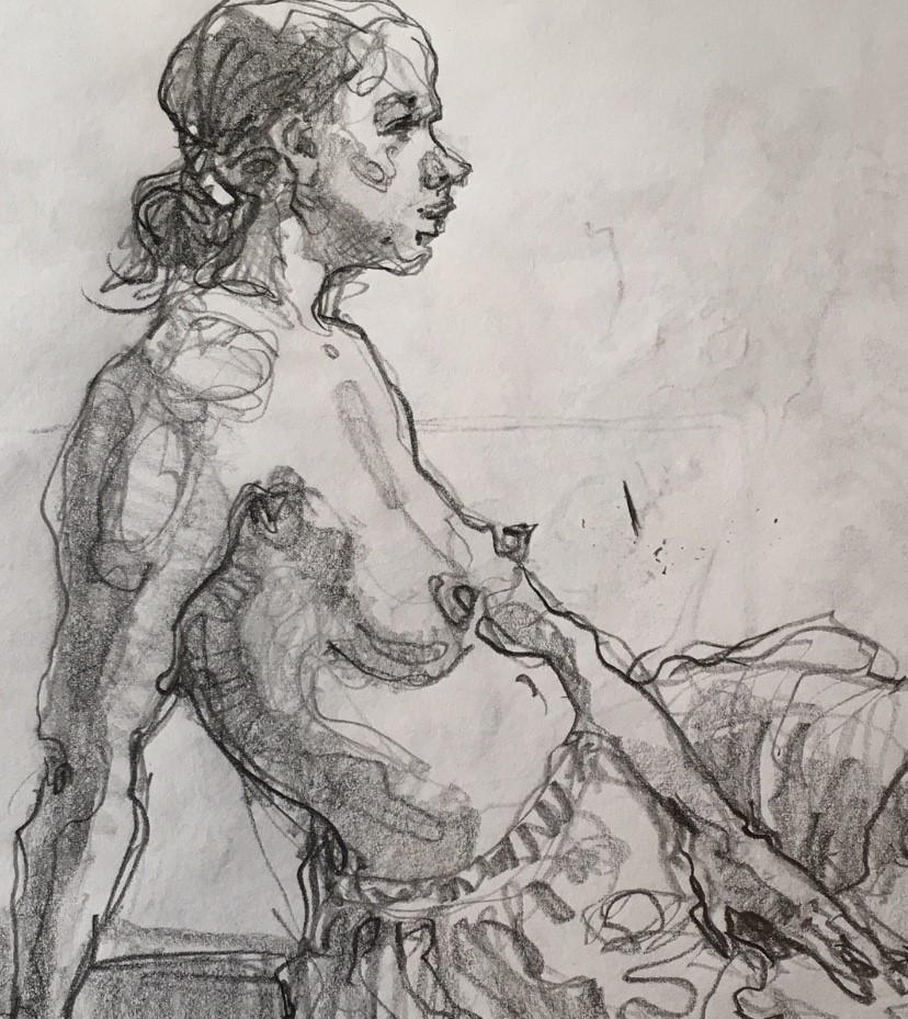 """Figure79"" original fine art by Katya Minkina"