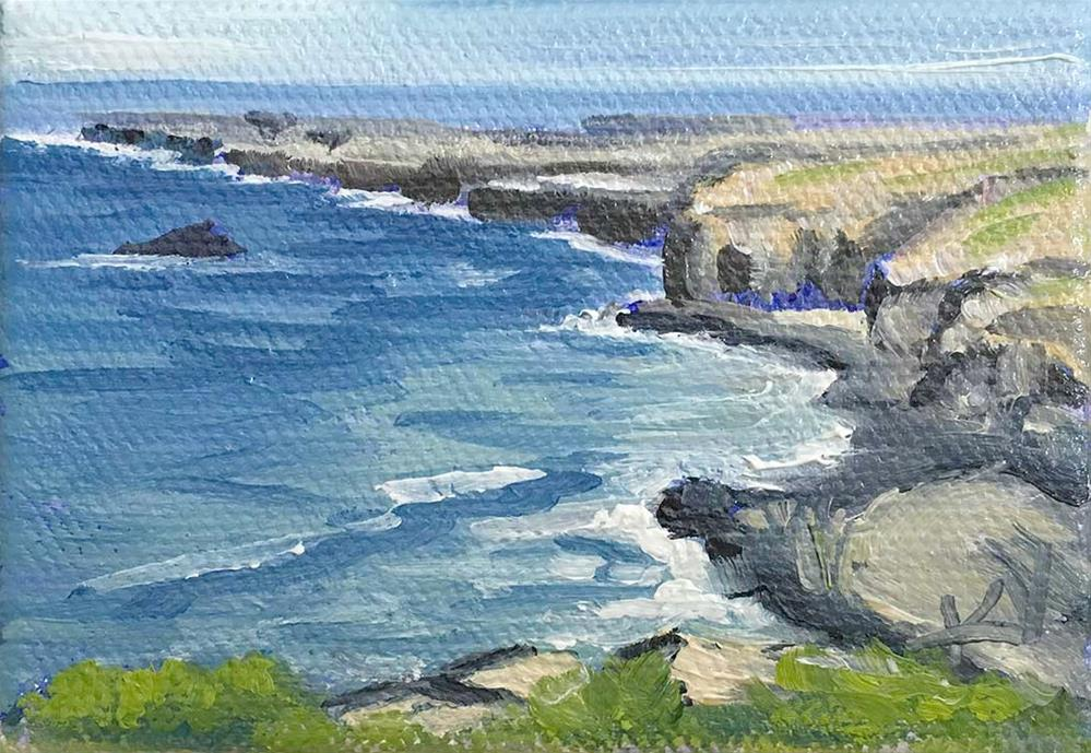 """Fort Bragg Seascape miniature"" original fine art by Kim Victoria"