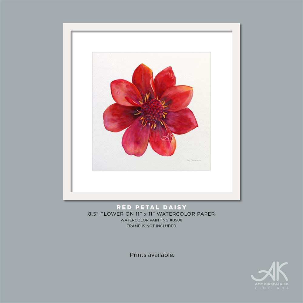 """""""RED PETAL FLOWER #0508"""" original fine art by Amy Kirkpatrick"""