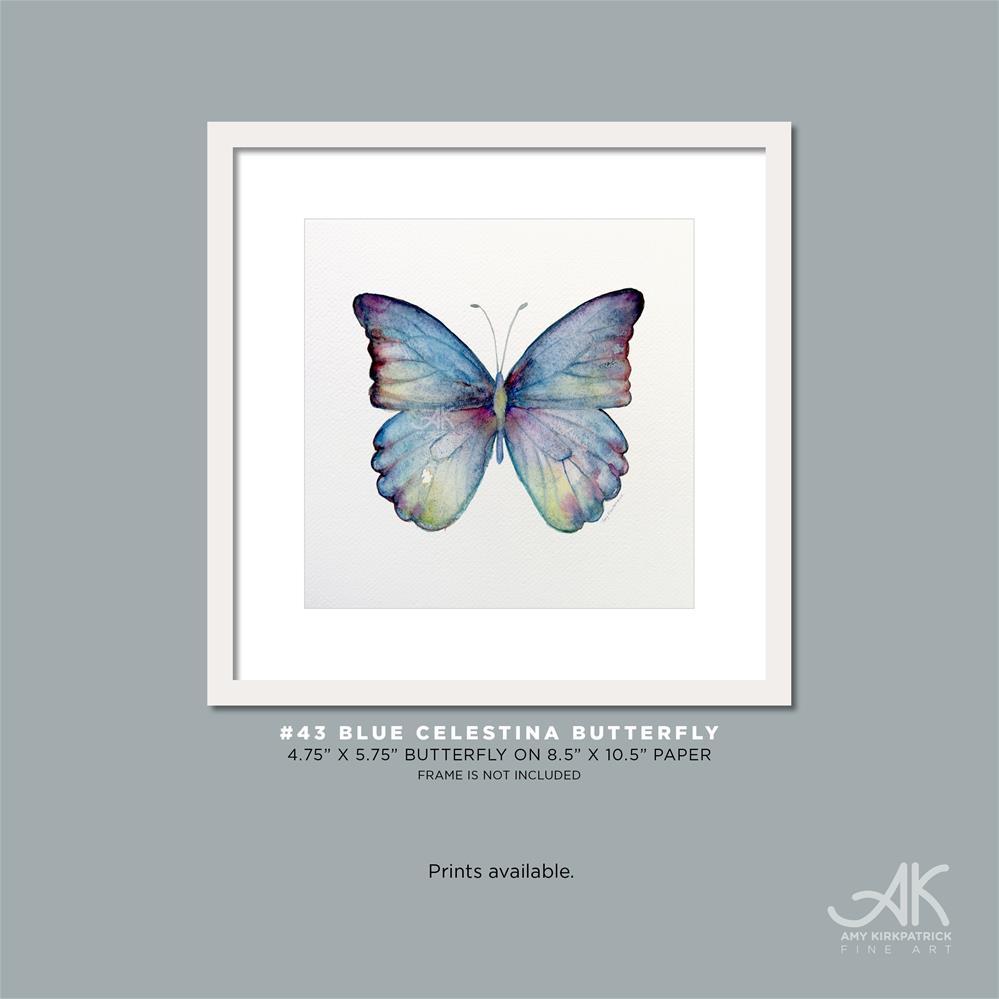 """""""#43 Blue Celestina Butterfly #0352"""" original fine art by Amy Kirkpatrick"""