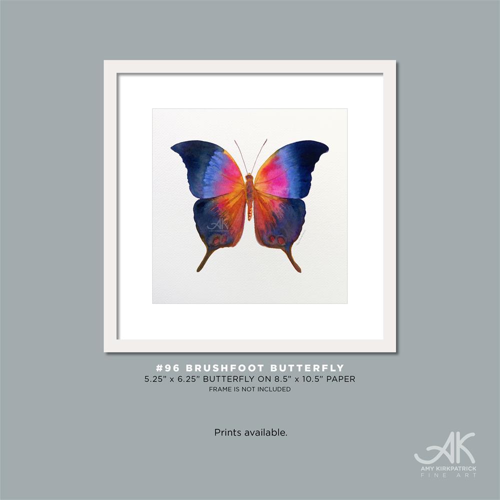 """""""#96 Brushfoot Butterfly #0406"""" original fine art by Amy Kirkpatrick"""