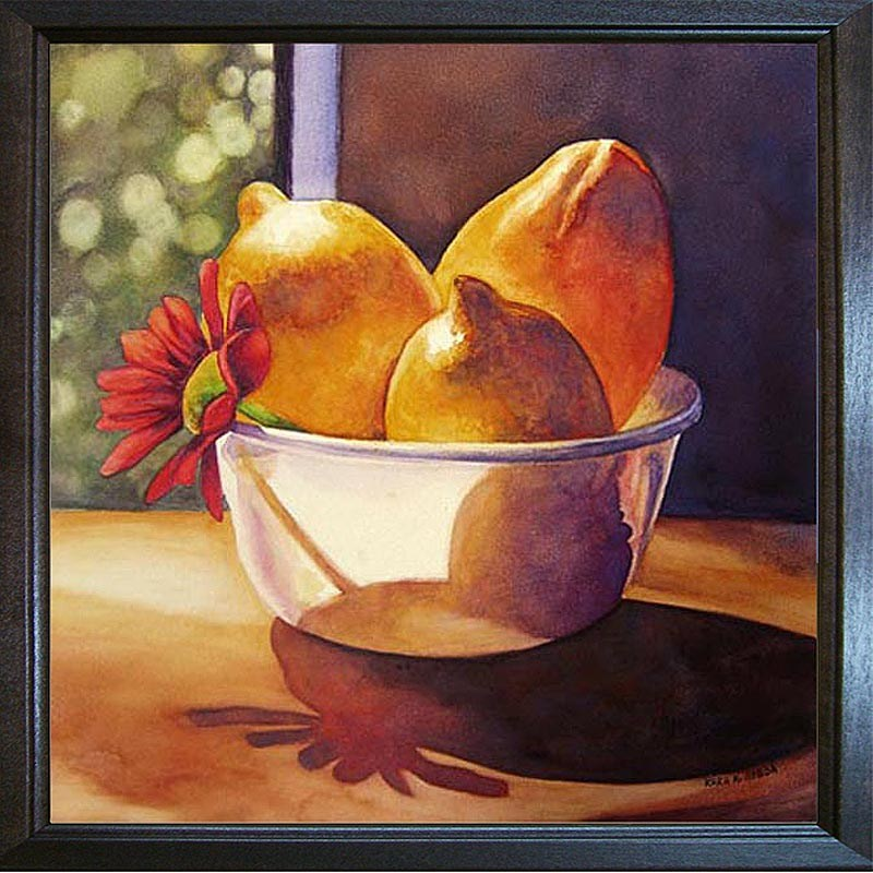 """Sunlit Lemons"" original fine art by Kara K. Bigda"