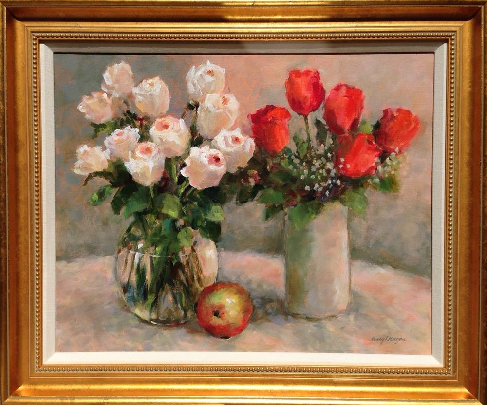 """February Roses"" original fine art by Nancy F. Morgan"