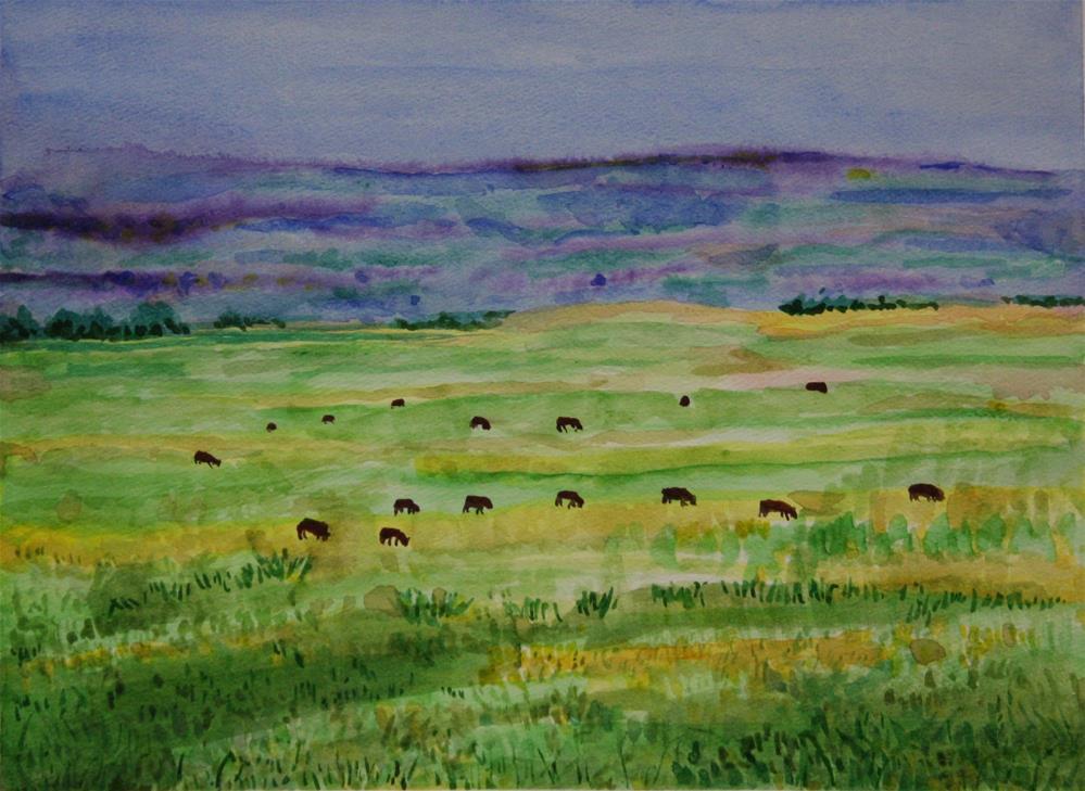 """Alberta Ranch #1"" original fine art by Terri-Anne Barge"