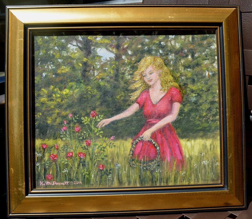 """""""Love is a Rose (C) 2016 by K. McDermott"""" original fine art by Kathleen McDermott"""