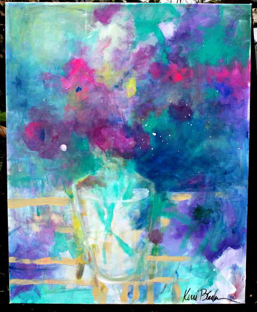 """Evening Bouquet "" original fine art by Kerri Blackman"