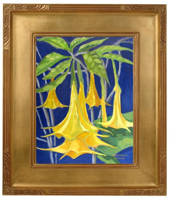 """Angel Trumpets"" original fine art by Rhett Regina Owings"